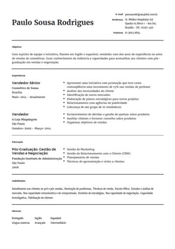 Modelo De Curriculo Para Engenheiro Onlinecurriculo